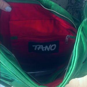 Tano Green Leather Crossbody Bag